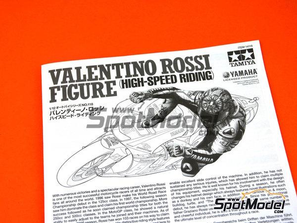 Image 4: Valentino Rossi - Campeonato del Mundo de Motociclismo 2009 | Figura en escala1/12 fabricado por Tamiya (ref.TAM14118)