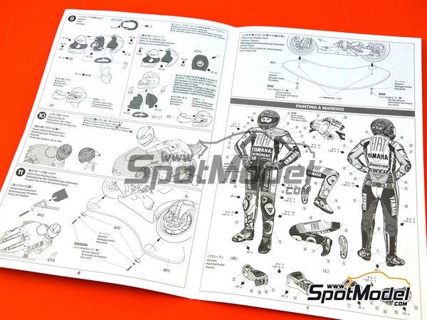 Image 5: Valentino Rossi - Campeonato del Mundo de Motociclismo 2009 | Figura en escala1/12 fabricado por Tamiya (ref.TAM14118)