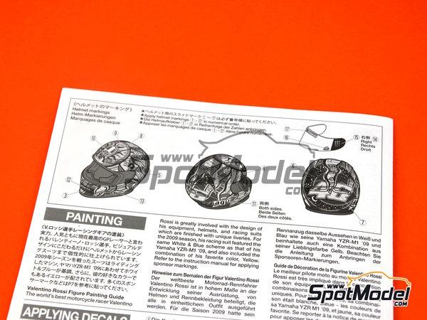 Image 6: Valentino Rossi - Campeonato del Mundo de Motociclismo 2009 | Figura en escala1/12 fabricado por Tamiya (ref.TAM14118)