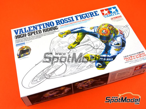 Image 7: Valentino Rossi - Campeonato del Mundo de Motociclismo 2009 | Figura en escala1/12 fabricado por Tamiya (ref.TAM14118)