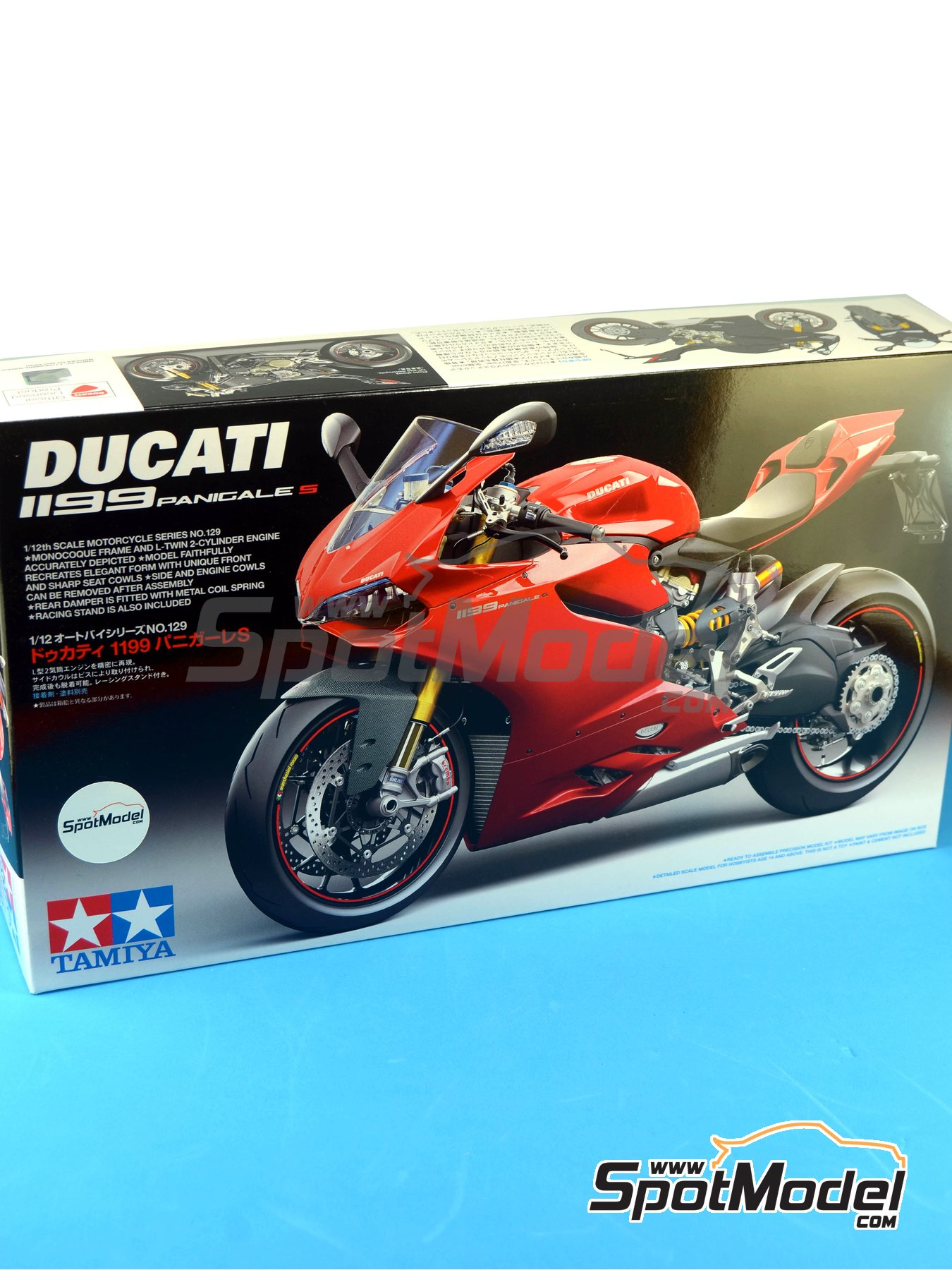 Ducati 1199 Panigale S   Model bike kit in 1/12 scale manufactured by Tamiya (ref.TAM14129, also 14129) image