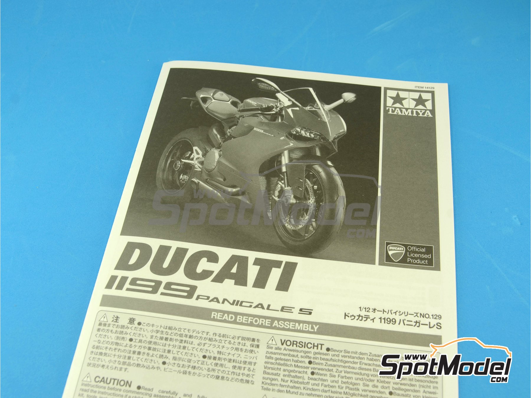 Image 1: Ducati 1199 Panigale S   Model bike kit in 1/12 scale manufactured by Tamiya (ref.TAM14129, also 14129)