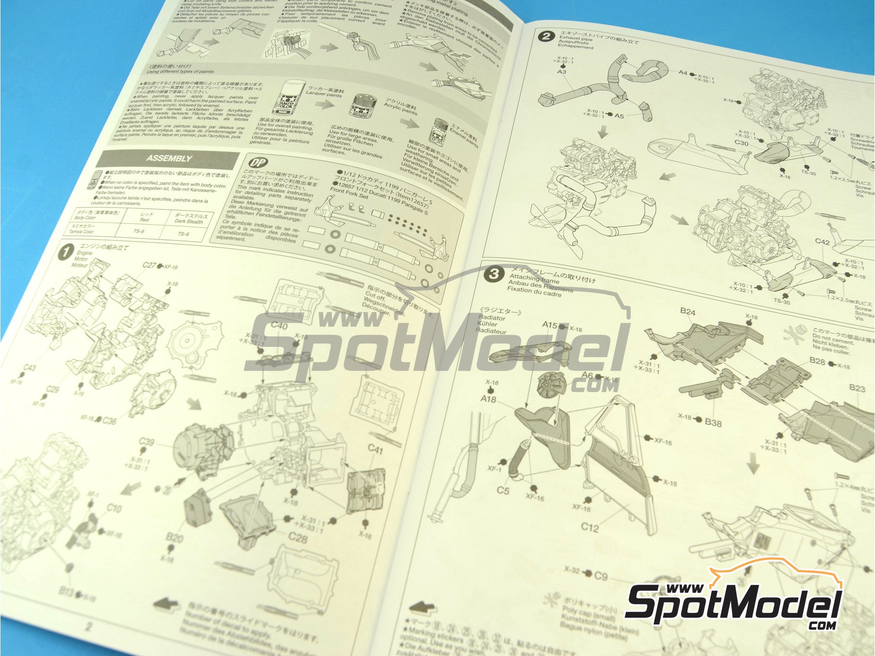 Image 2: Ducati 1199 Panigale S   Model bike kit in 1/12 scale manufactured by Tamiya (ref.TAM14129, also 14129)