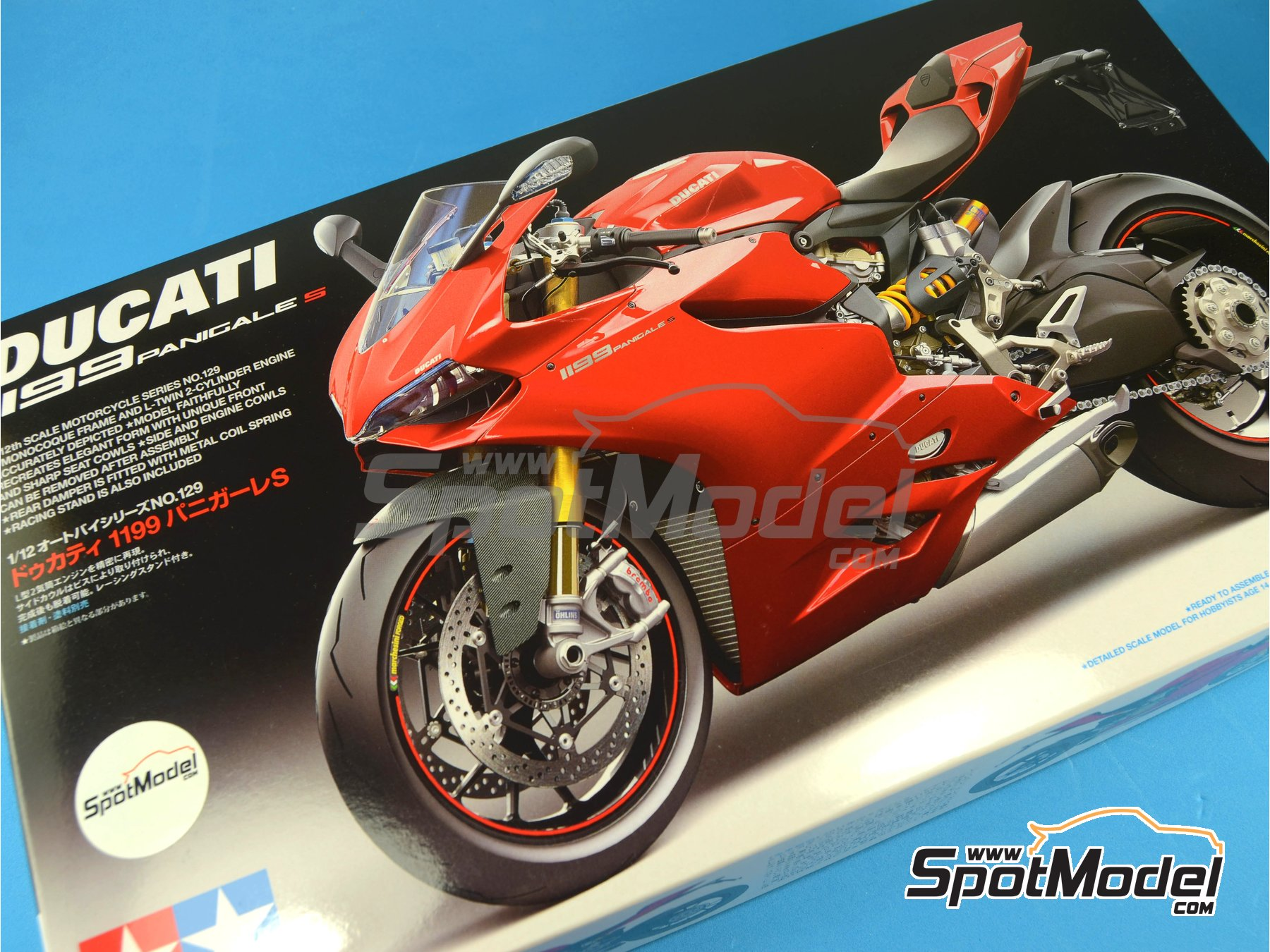 Image 13: Ducati 1199 Panigale S   Model bike kit in 1/12 scale manufactured by Tamiya (ref.TAM14129, also 14129)
