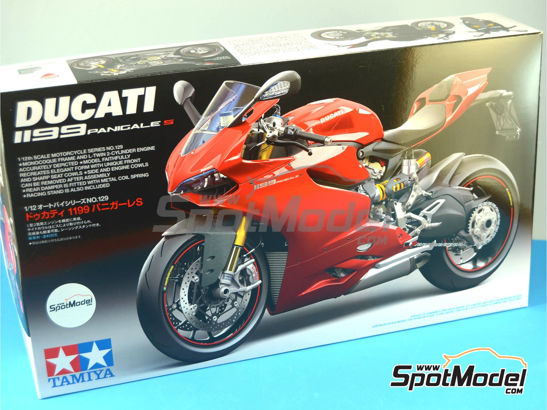 Image 14: Ducati 1199 Panigale S   Model bike kit in 1/12 scale manufactured by Tamiya (ref.TAM14129, also 14129)