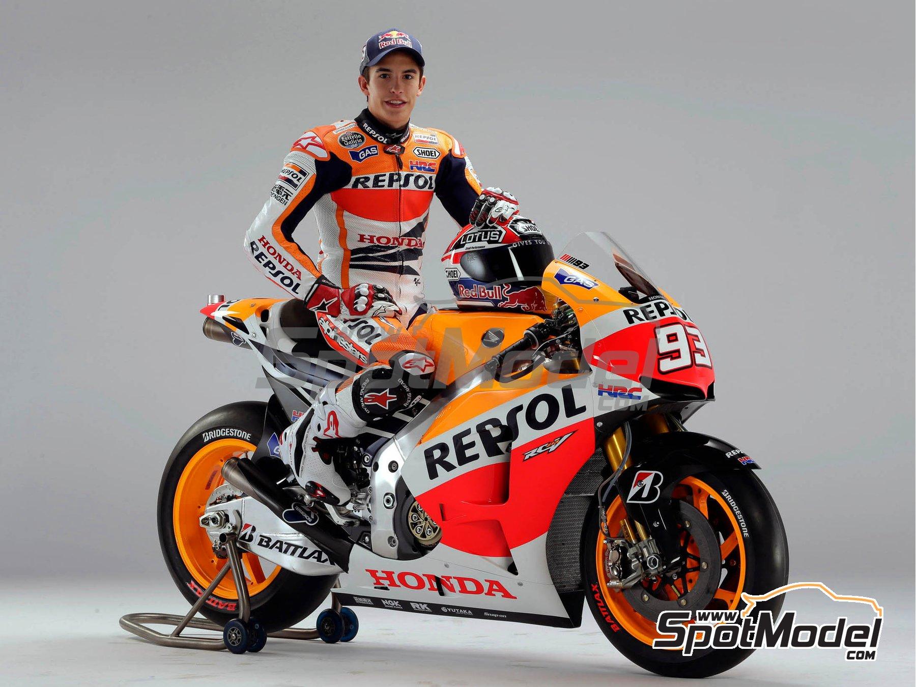 Image 1: Honda RC213V Repsol - Spanish Moto GP Grand Prix 2014 | Model bike kit in 1/12 scale manufactured by Tamiya (ref.TAM14130, also 14130)