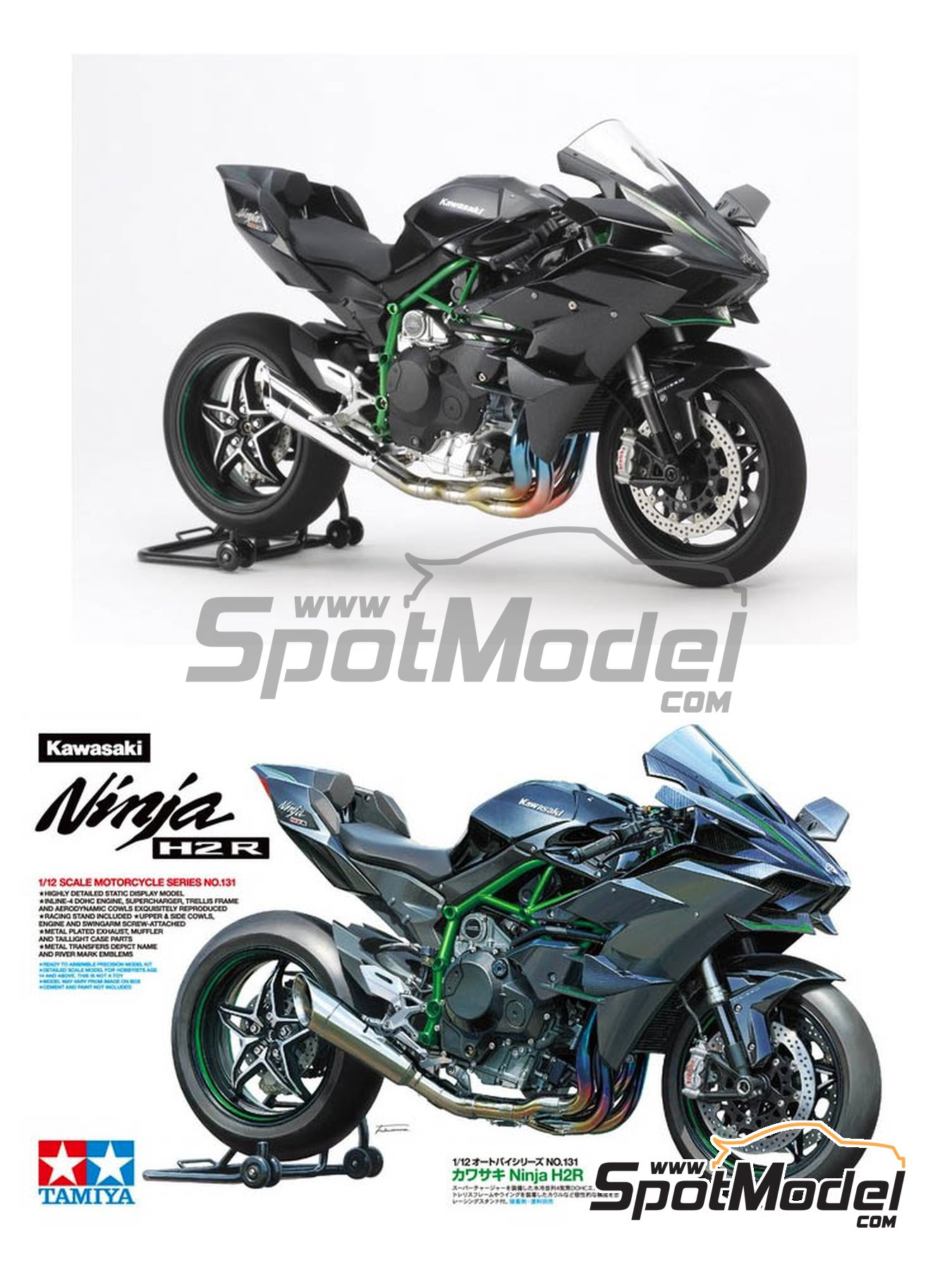 Tamiya: Model bike kit 1/12 scale - Kawasaki Ninja H2R (ref ...
