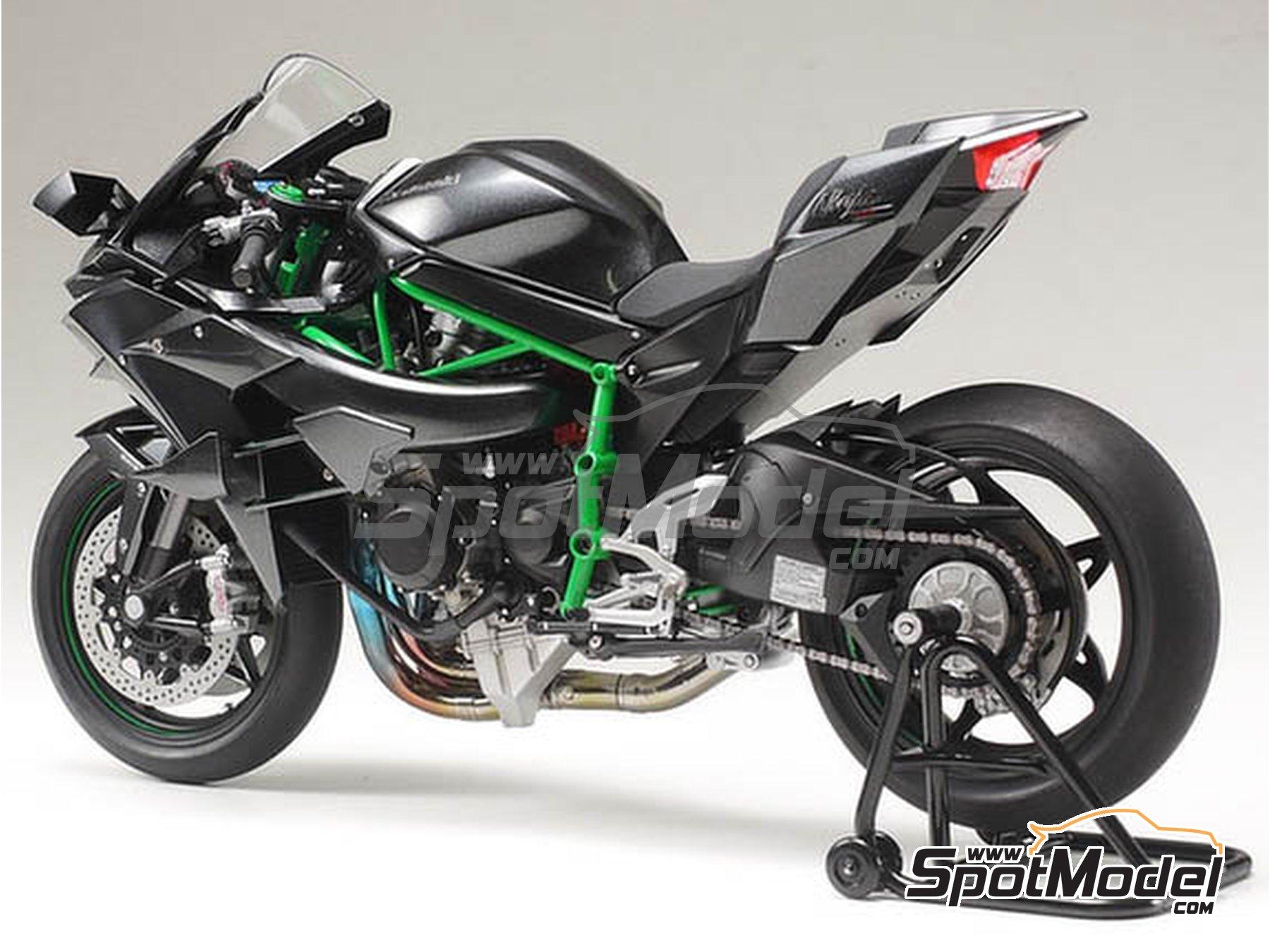 Image 3: Kawasaki Ninja H2R | Maqueta de moto en escala1/12 fabricado por Tamiya (ref.TAM14131)