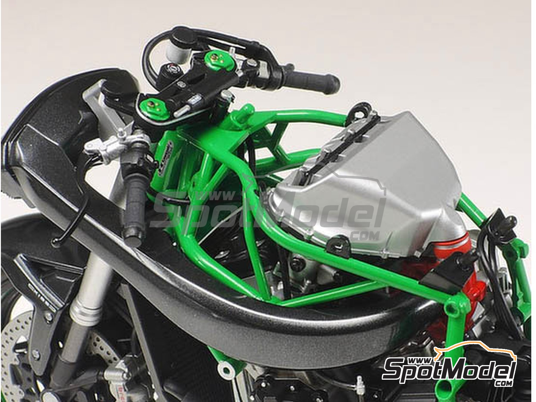 Image 5: Kawasaki Ninja H2R | Maqueta de moto en escala1/12 fabricado por Tamiya (ref.TAM14131)