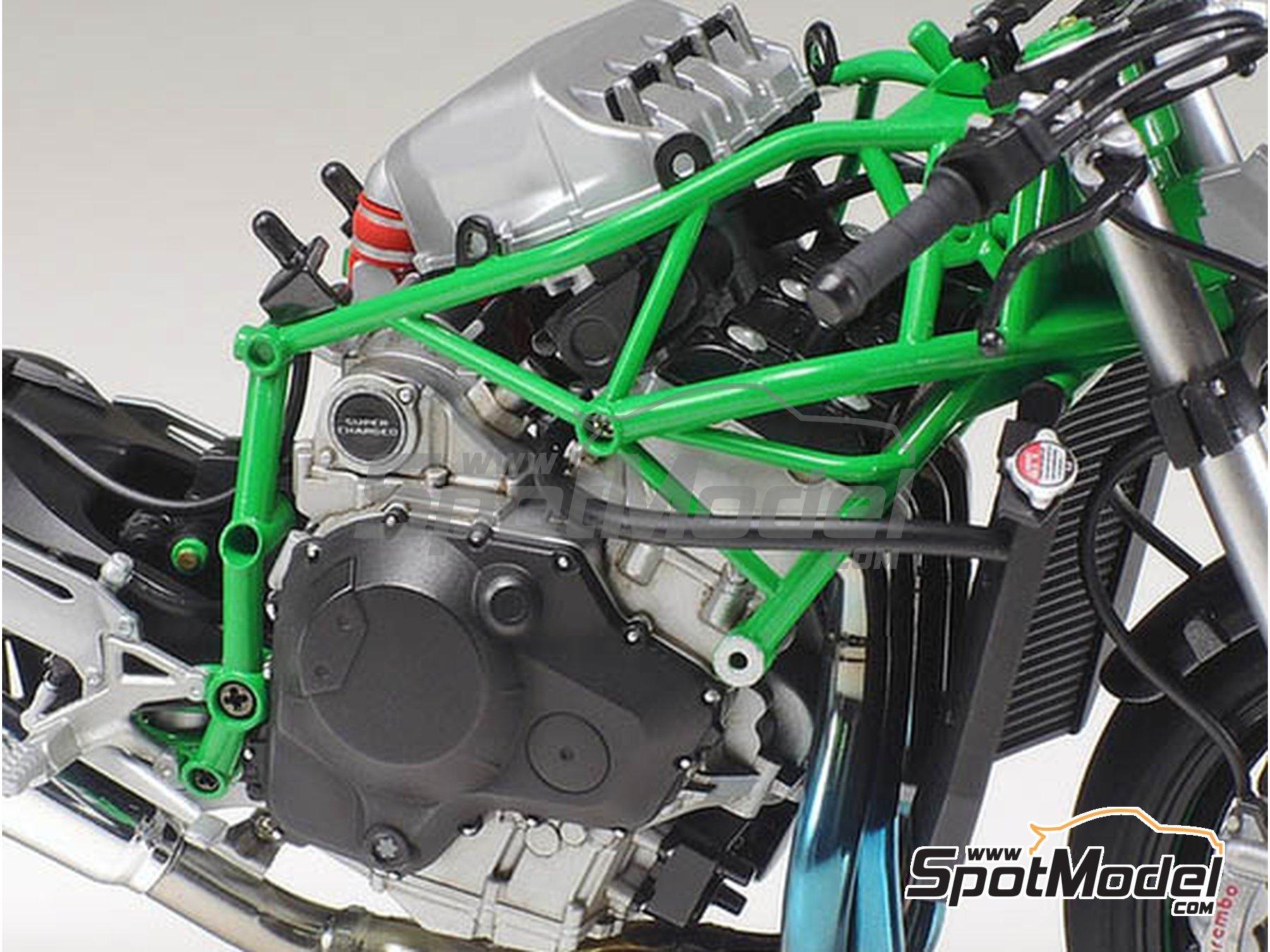 Image 6: Kawasaki Ninja H2R | Maqueta de moto en escala1/12 fabricado por Tamiya (ref.TAM14131)