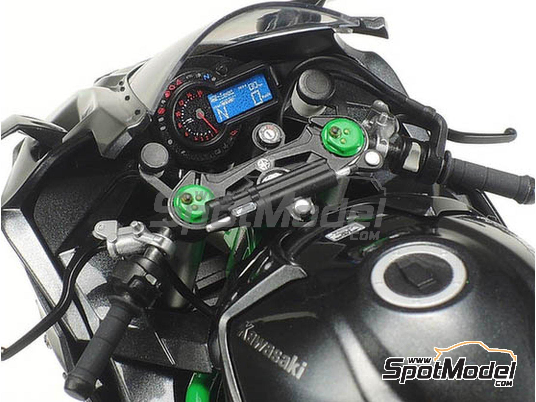 Image 7: Kawasaki Ninja H2R | Maqueta de moto en escala1/12 fabricado por Tamiya (ref.TAM14131)