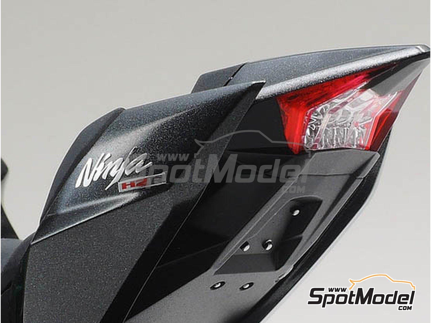 Image 8: Kawasaki Ninja H2R | Maqueta de moto en escala1/12 fabricado por Tamiya (ref.TAM14131)
