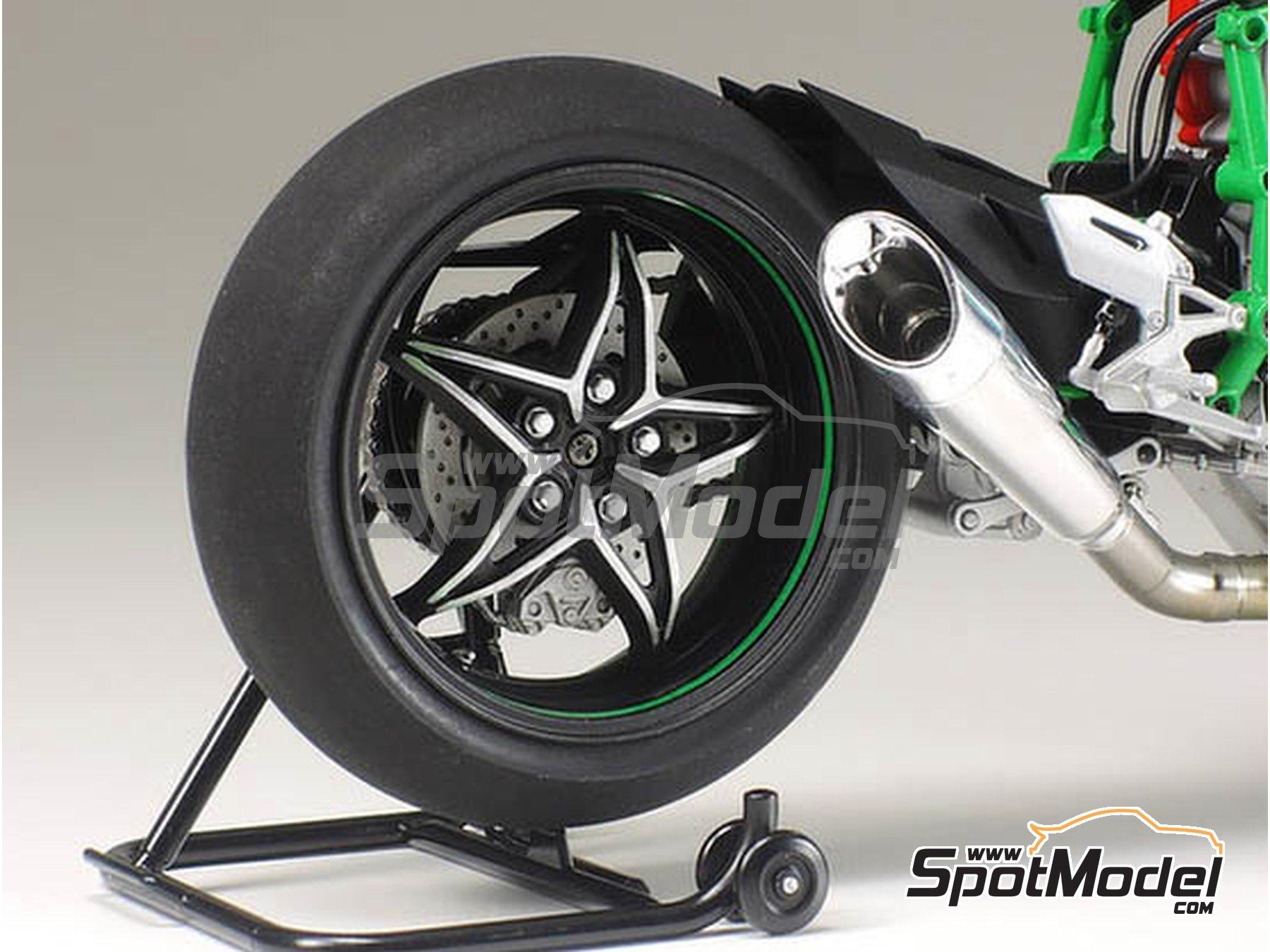 Image 9: Kawasaki Ninja H2R | Maqueta de moto en escala1/12 fabricado por Tamiya (ref.TAM14131)
