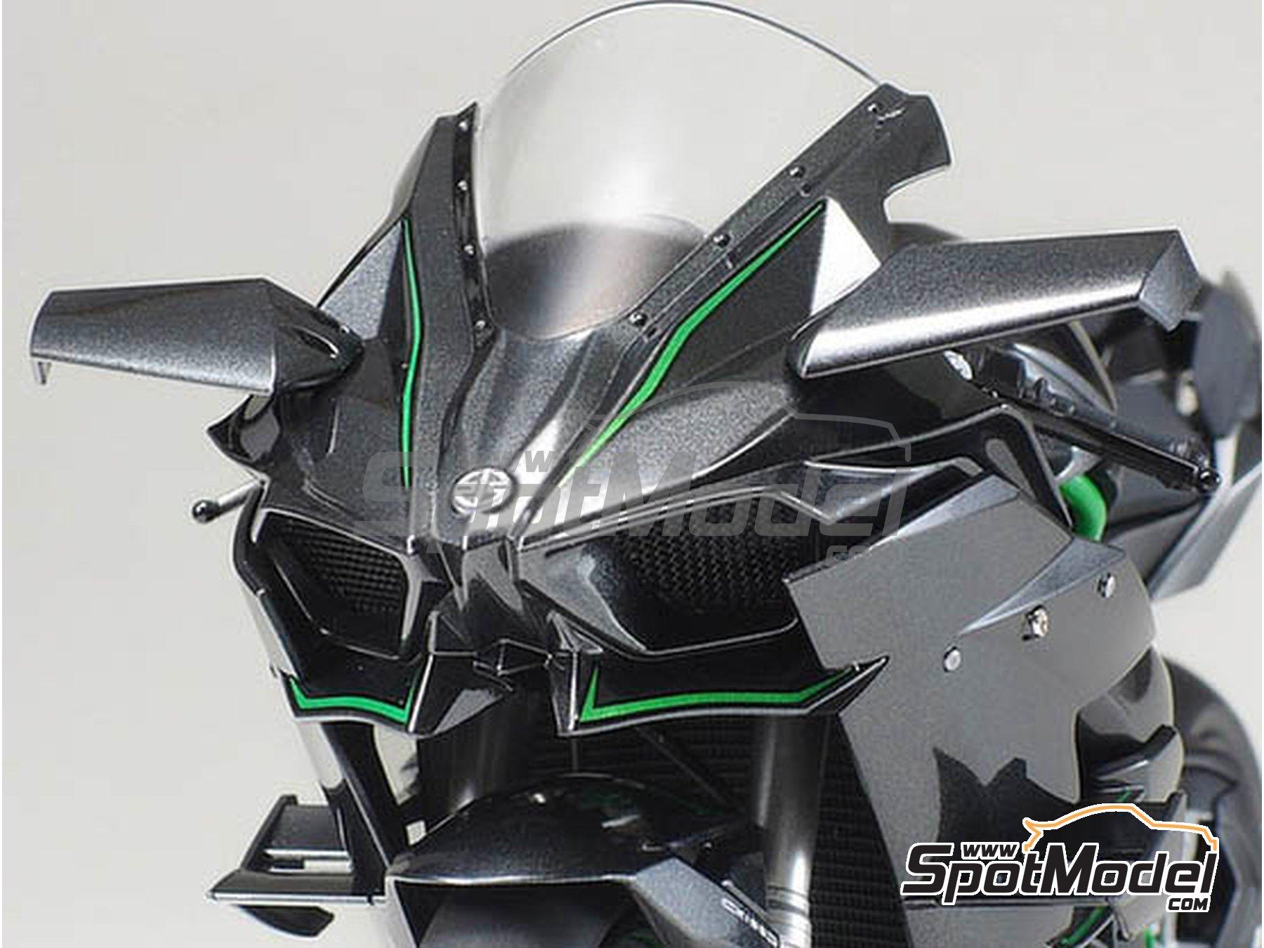 Image 10: Kawasaki Ninja H2R | Maqueta de moto en escala1/12 fabricado por Tamiya (ref.TAM14131)