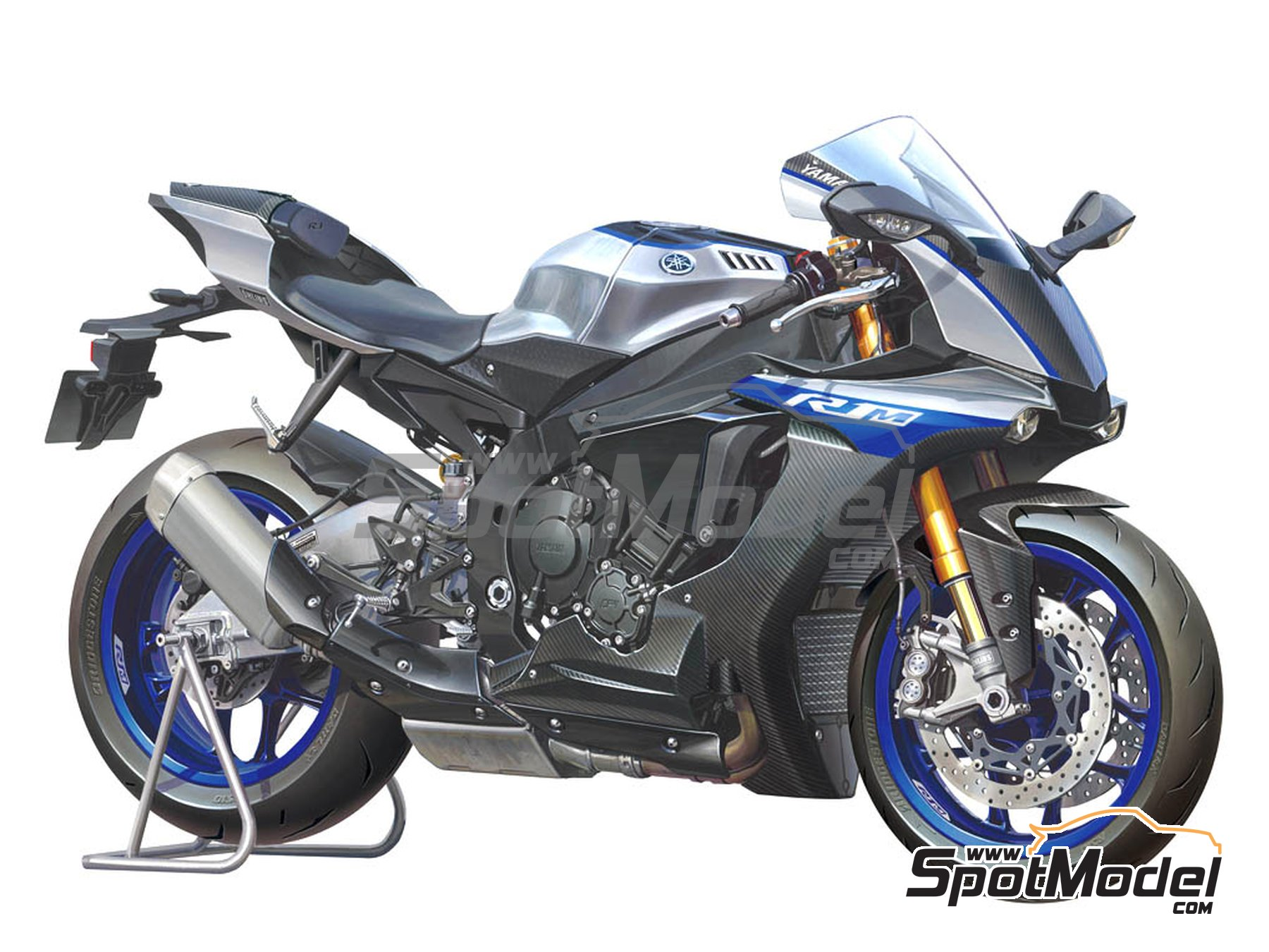 Image 1: Yamaha YZF-R1M | Model bike kit in 1/12 scale manufactured by Tamiya (ref. TAM14133, also 14133)