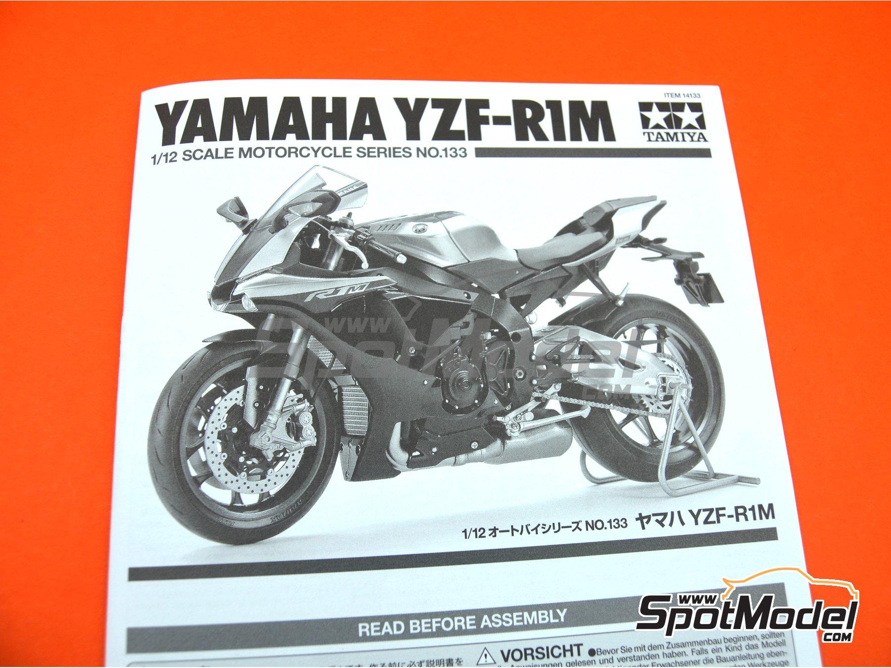 Image 10: Yamaha YZF-R1M   Maqueta de moto en escala1/12 fabricado por Tamiya (ref.TAM14133, tambien 14133, HC-14133, 4950344141333 y TMY14133)