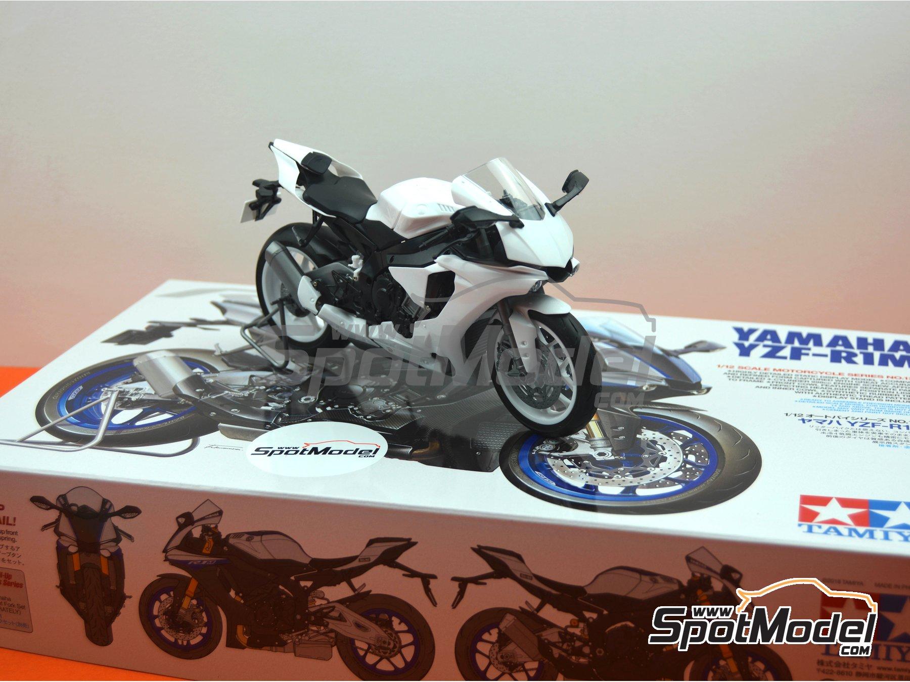Image 22: Yamaha YZF-R1M   Maqueta de moto en escala1/12 fabricado por Tamiya (ref.TAM14133, tambien 14133, HC-14133, 4950344141333 y TMY14133)