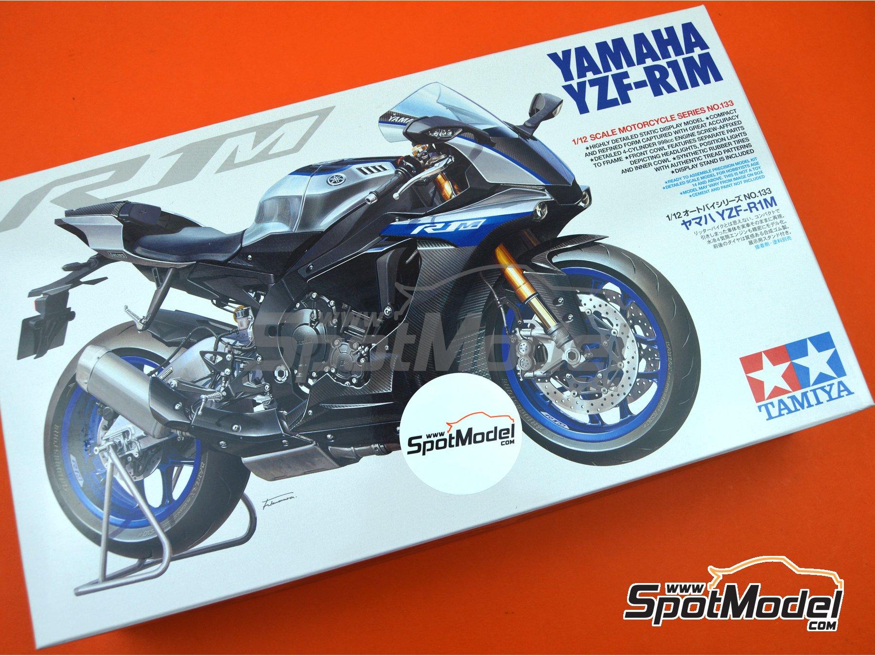 Image 23: Yamaha YZF-R1M   Maqueta de moto en escala1/12 fabricado por Tamiya (ref.TAM14133, tambien 14133, HC-14133, 4950344141333 y TMY14133)