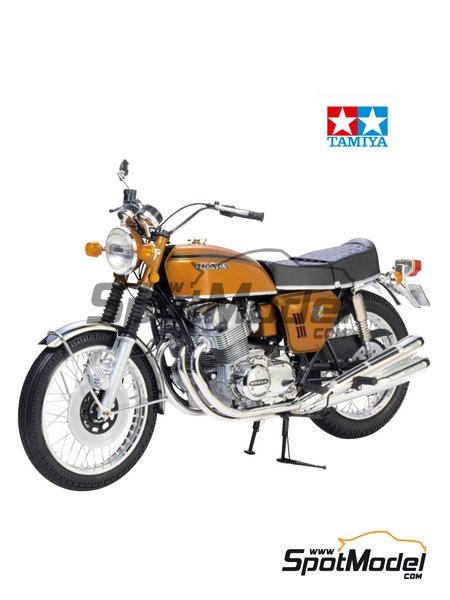 Honda CB750 Four | Model bike kit in 1/6 scale manufactured by Tamiya (ref. TAM16001, also 16001) image