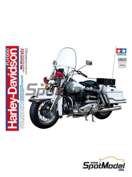 Harley-Davidson FLH 1200 Policia | Maqueta de moto en escala1/6 fabricado por Tamiya (ref.TAM16038) image