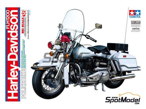 Image 1: Harley-Davidson FLH 1200 Policia | Maqueta de moto en escala1/6 fabricado por Tamiya (ref.TAM16038)