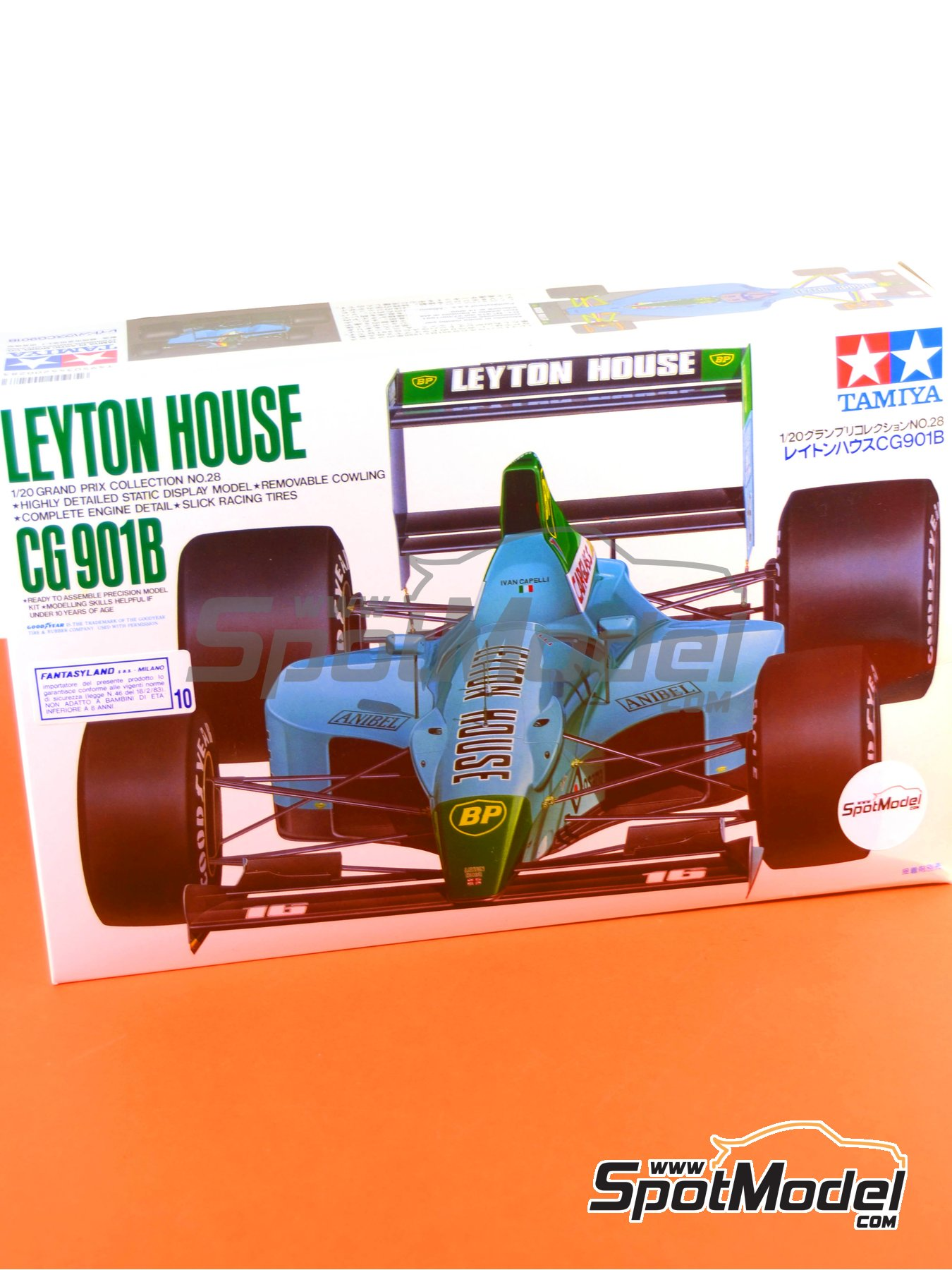 Leyton House Judd CG901B Carglass - FIA Formula 1 World Championship 1990 | Model car kit in 1/20 scale manufactured by Tamiya (ref.TAM20028, also 20028) image