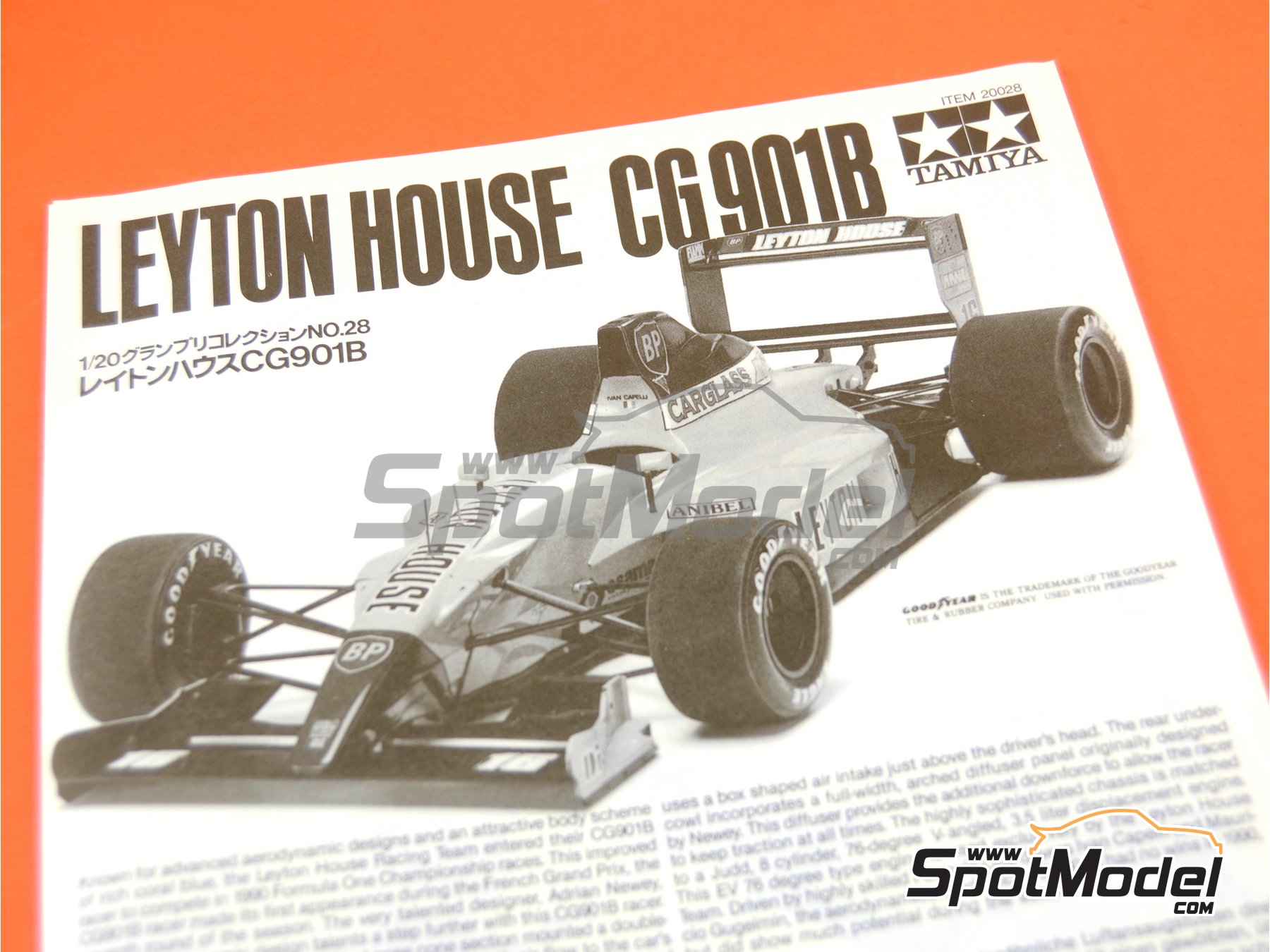 Image 6: Leyton House Judd CG901B Carglass - FIA Formula 1 World Championship 1990 | Model car kit in 1/20 scale manufactured by Tamiya (ref.TAM20028, also 20028)