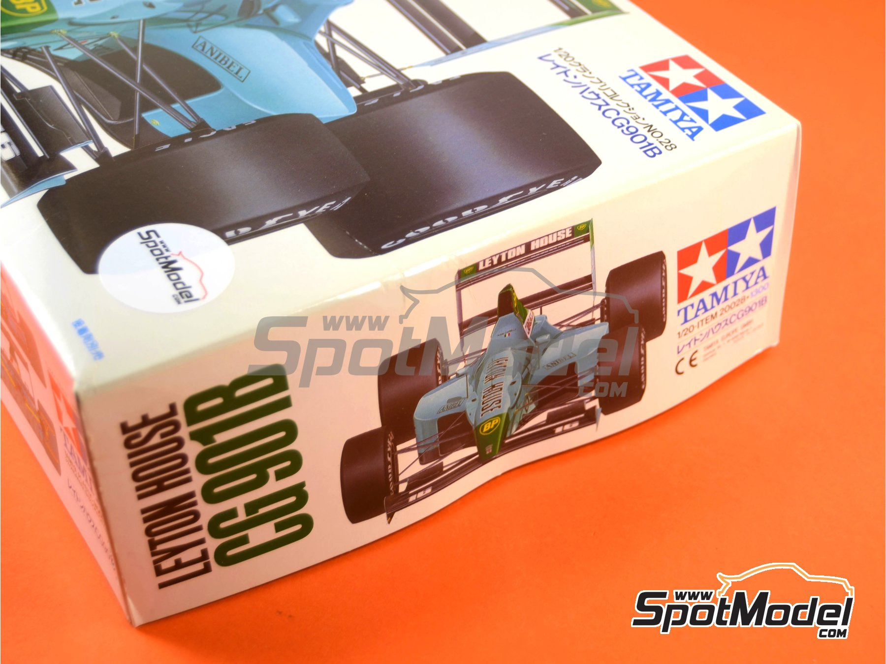 Image 11: Leyton House Judd CG901B Carglass - FIA Formula 1 World Championship 1990 | Model car kit in 1/20 scale manufactured by Tamiya (ref.TAM20028, also 20028)
