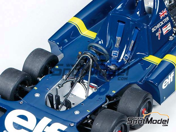 Image 5: Tyrrell Ford P34 Six Wheels ELF - Japanese Formula 1 Grand Prix 1976 | Model car kit in 1/20 scale manufactured by Tamiya (ref. TAM20058, also 20058)