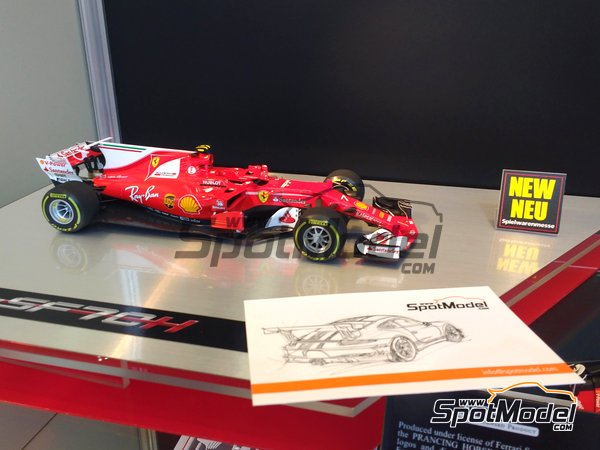 Image 1: Ferrari SF70H Banco Santander - Australian Grand Prix 2017 | Model car kit in 1/20 scale manufactured by Tamiya (ref. TAM20068)
