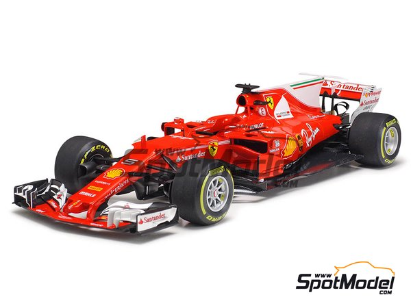Image 13: Ferrari SF70H Banco Santander - Australian Grand Prix 2017 | Model car kit in 1/20 scale manufactured by Tamiya (ref. TAM20068)