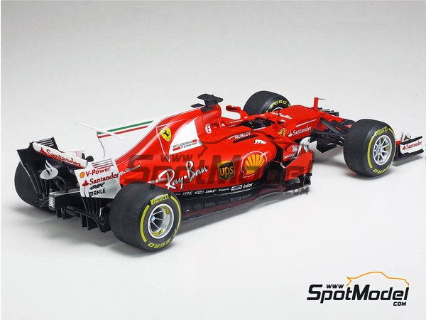 Image 14: Ferrari SF70H Banco Santander - Australian Grand Prix 2017 | Model car kit in 1/20 scale manufactured by Tamiya (ref. TAM20068)