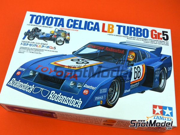 Image 9: Toyota Celica LB Turbo Group 5 - German Racing GTs Championship 1977 | Model car kit in 1/24 scale manufactured by Tamiya (ref. TAM24007)