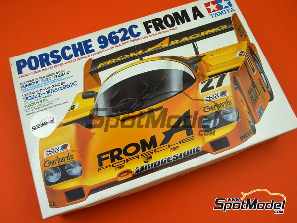 Image 11: Porsche 962C From A - 24 Hours Le Mans 1989 | Model car kit in 1/24 scale manufactured by Tamiya (ref. TAM24089, also 24089)