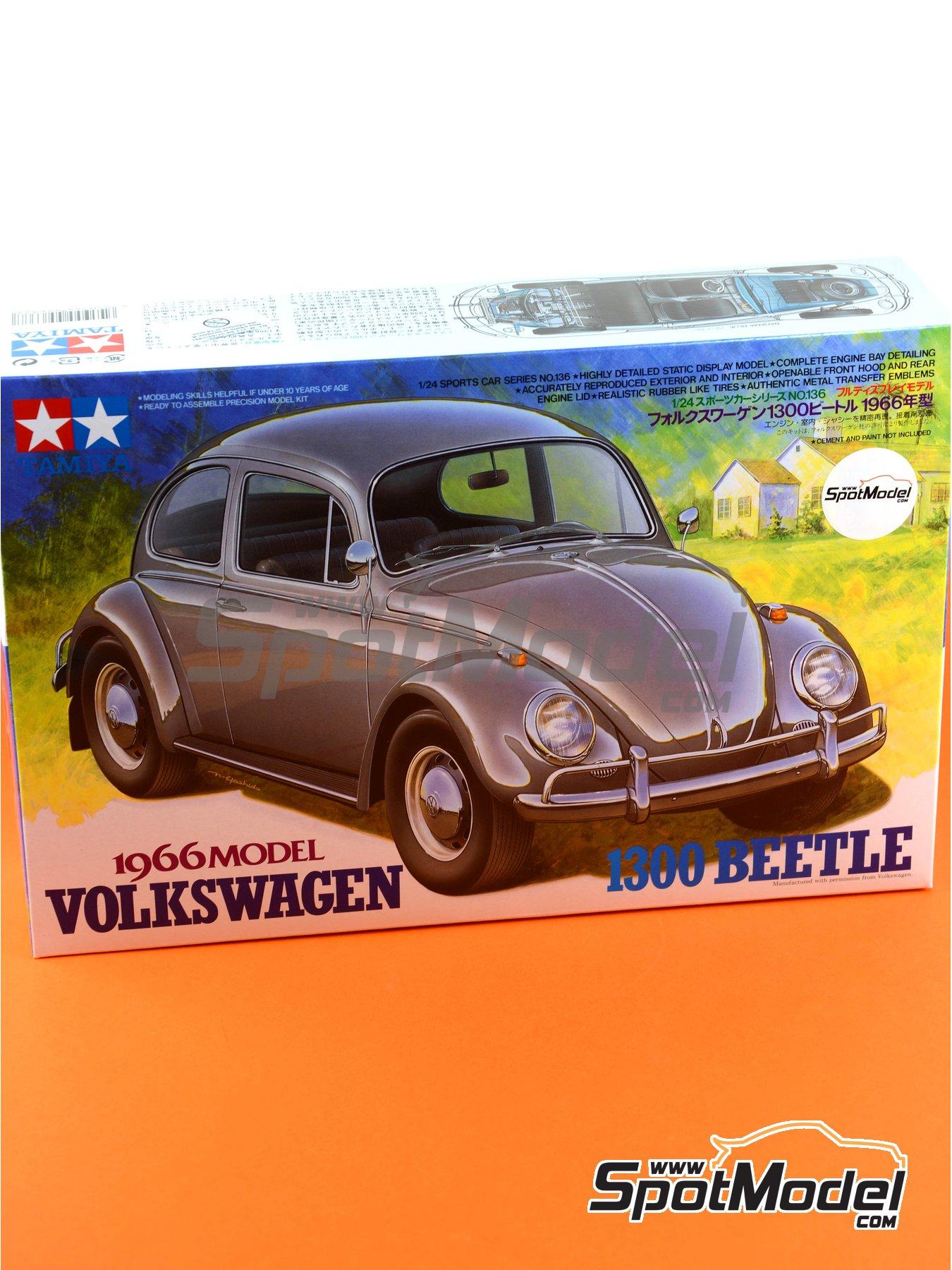 Volkswagen Beetle 1300 -  1966 | Maqueta de coche en escala1/24 fabricado por Tamiya (ref.TAM24136, tambien 24136) image