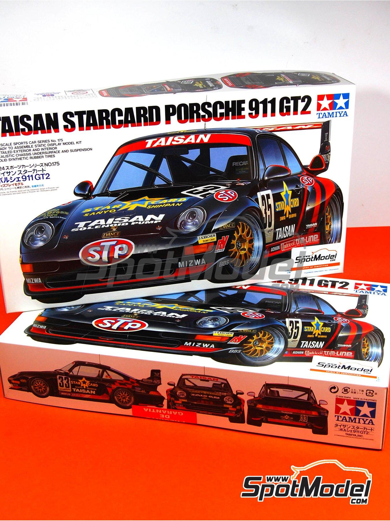tamiya model car kit 1 24 scale porsche 911 993 gt2 taisan 25 matsuda. Black Bedroom Furniture Sets. Home Design Ideas