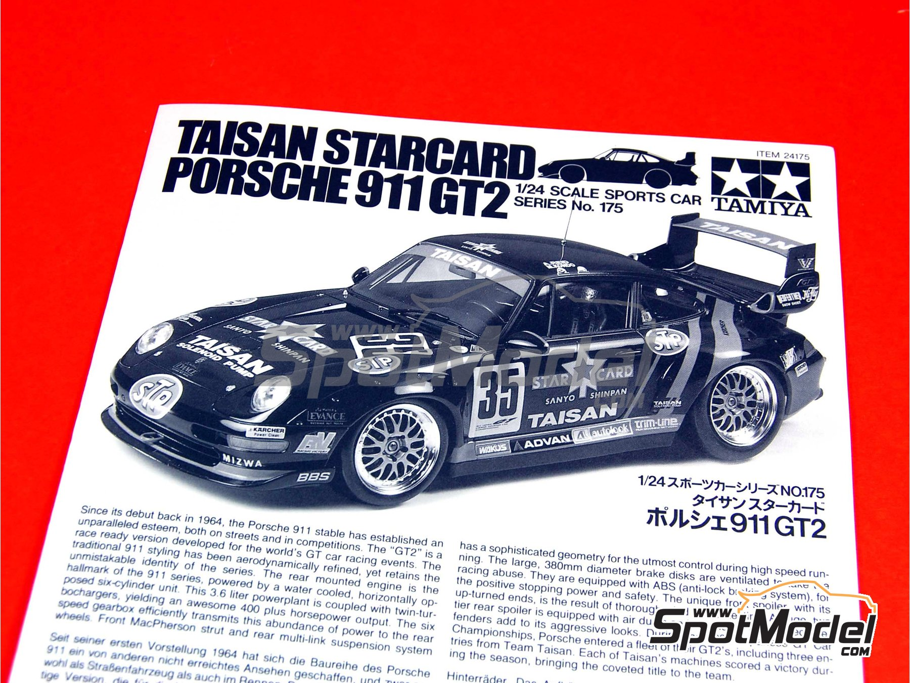 tamiya model car kit 1 24 scale porsche 911 993 gt2 taisan 25 tsugio ma. Black Bedroom Furniture Sets. Home Design Ideas