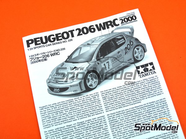 Image 10: Peugeot 206 WRC Clarion - Montecarlo Rally 2006 | Model car kit in 1/24 scale manufactured by Tamiya (ref. TAM24226, also 24226)
