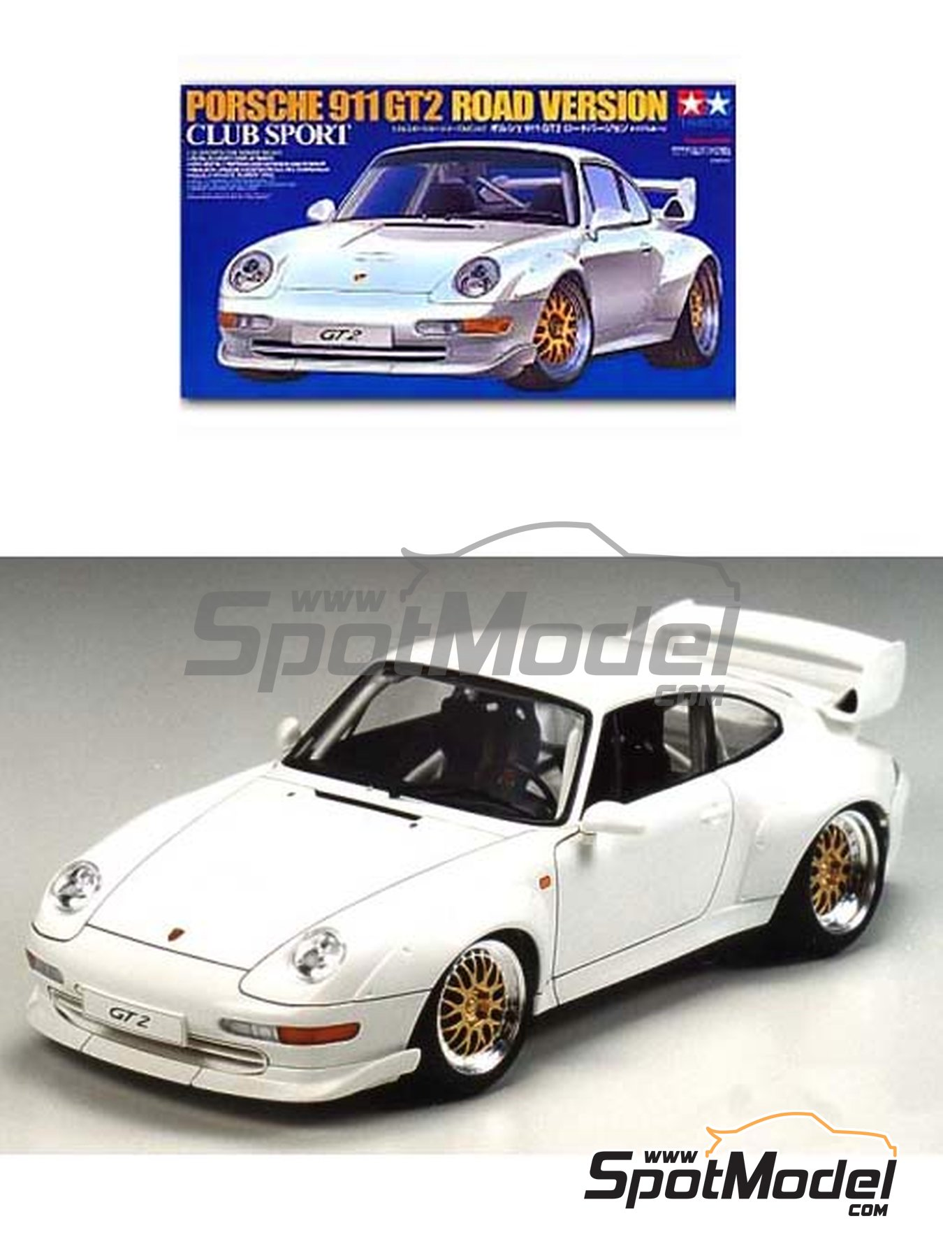 Tamiya Model car kit 124 scale  Porsche 911 993 GT2 Club Sport