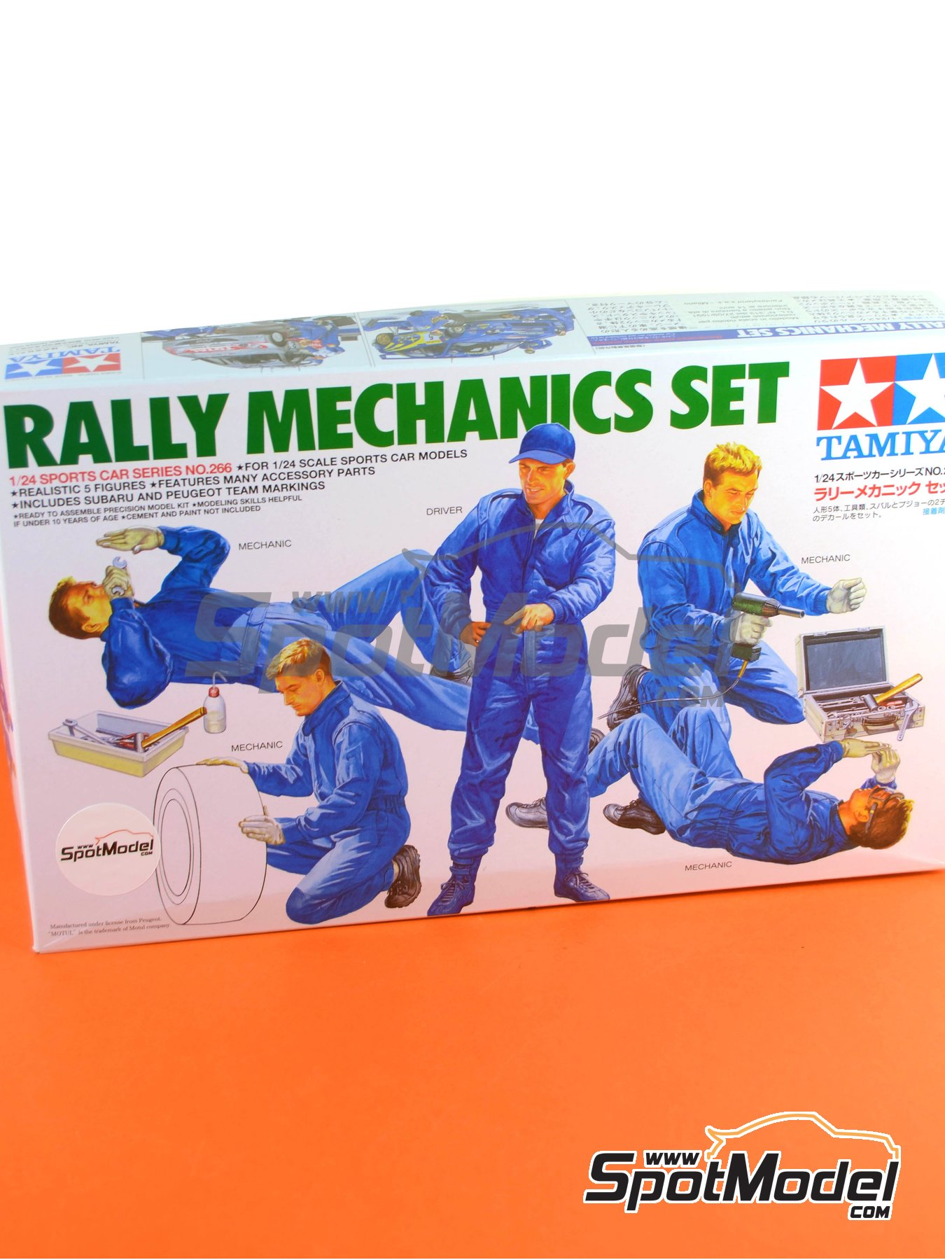Rally Mechanics Peugeot Subaru -  2001 and 2002 | Figures set in 1/24 scale manufactured by Tamiya (ref.TAM24266) image