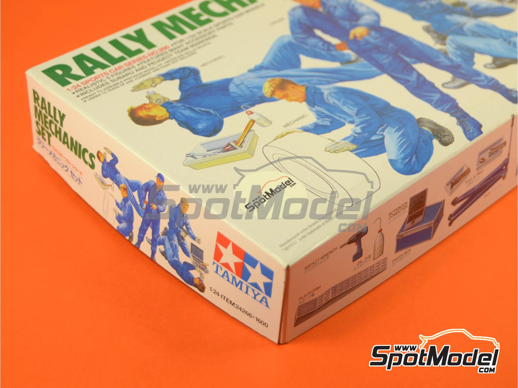 Image 6: Rally Mechanics Peugeot Subaru -  2001 and 2002 | Figures set in 1/24 scale manufactured by Tamiya (ref.TAM24266)