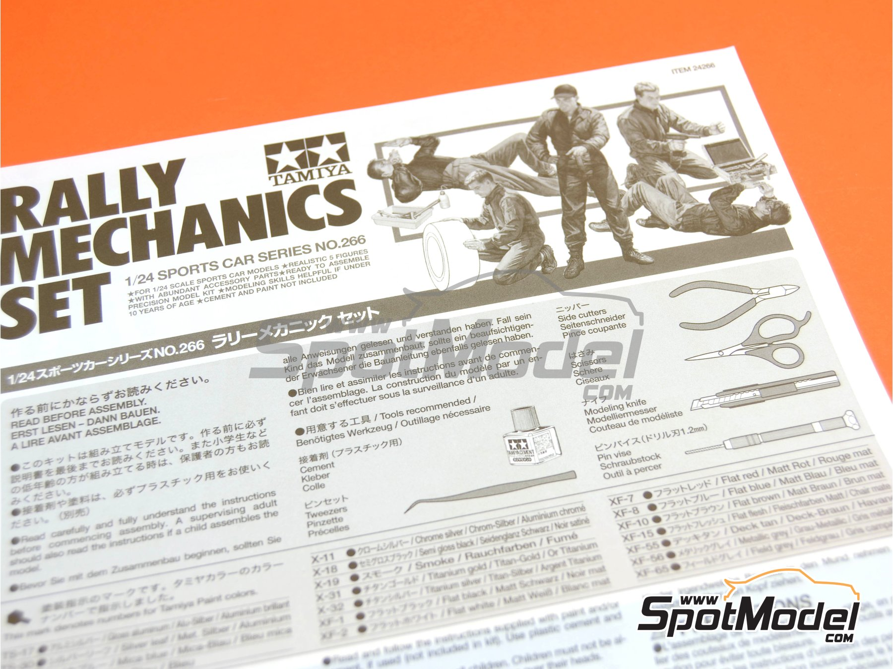 Image 7: Rally Mechanics Peugeot Subaru -  2001 and 2002 | Figures set in 1/24 scale manufactured by Tamiya (ref.TAM24266)