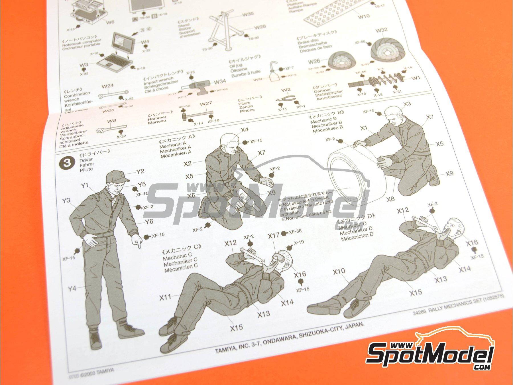 Image 9: Mecánicos de Rally Peugeot Subaru -  2001 y 2002 | Set de figuras en escala1/24 fabricado por Tamiya (ref.TAM24266)