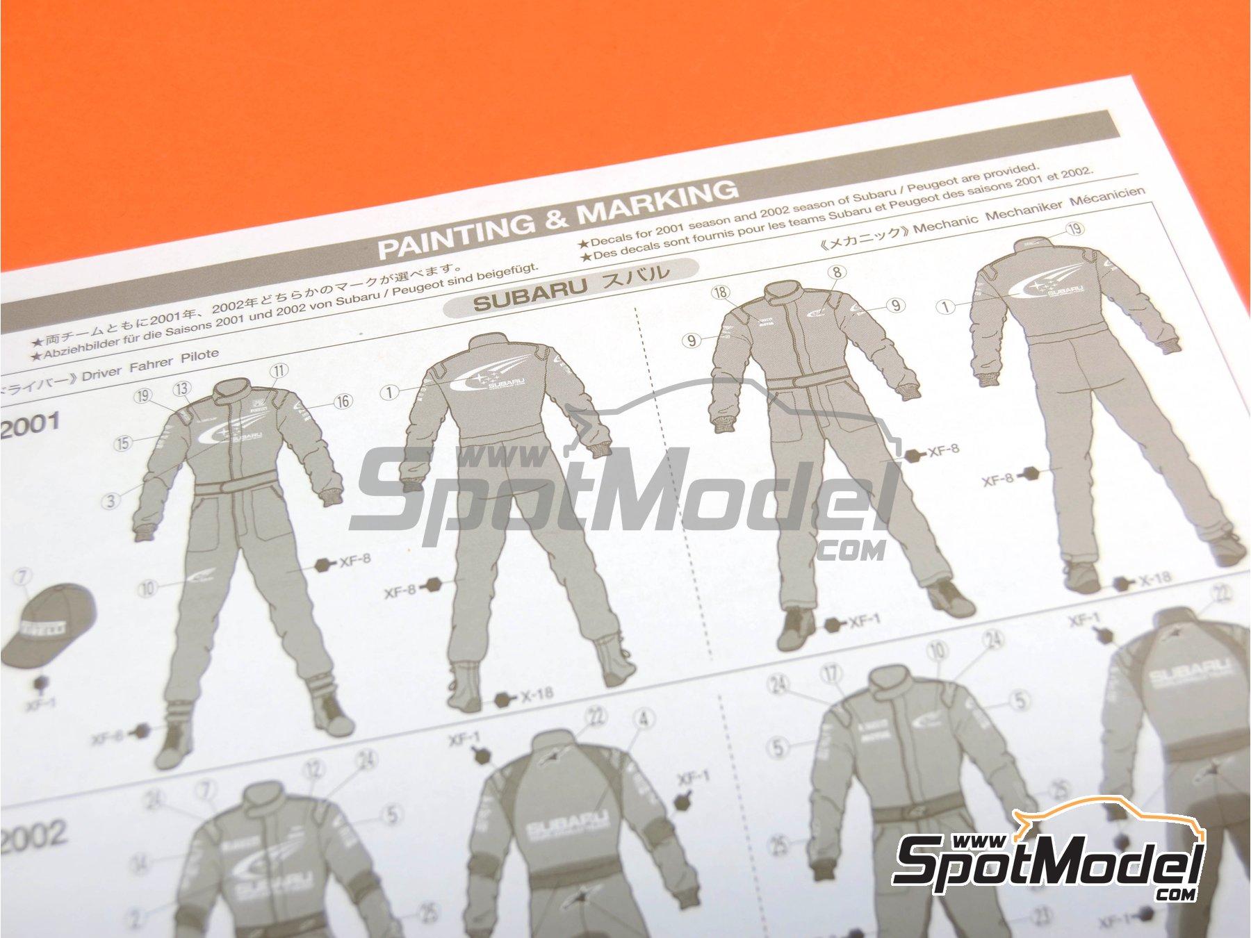 Image 10: Mecánicos de Rally Peugeot Subaru -  2001 y 2002 | Set de figuras en escala1/24 fabricado por Tamiya (ref.TAM24266)