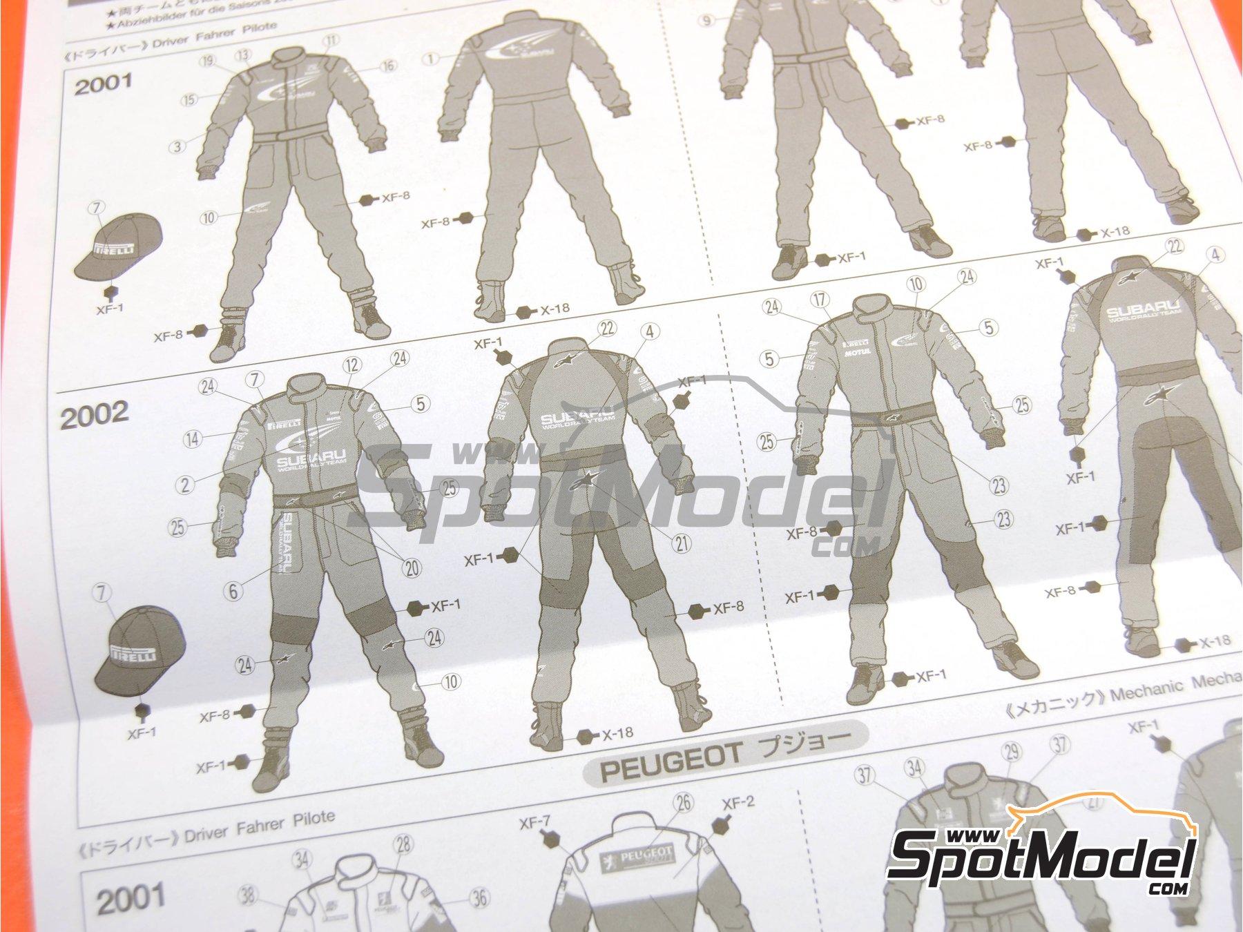 Image 11: Mecánicos de Rally Peugeot Subaru -  2001 y 2002 | Set de figuras en escala1/24 fabricado por Tamiya (ref.TAM24266)