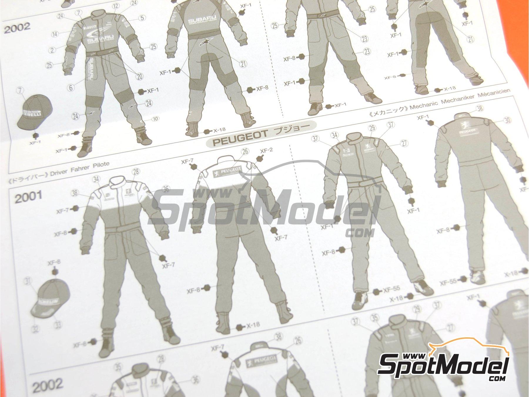 Image 12: Mecánicos de Rally Peugeot Subaru -  2001 y 2002 | Set de figuras en escala1/24 fabricado por Tamiya (ref.TAM24266)