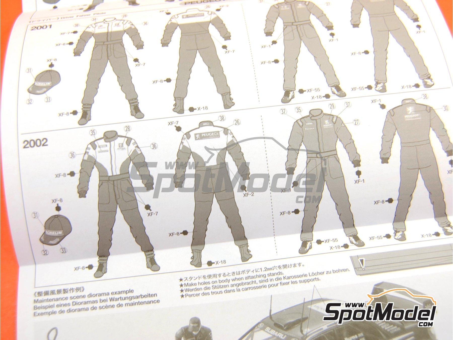 Image 13: Mecánicos de Rally Peugeot Subaru -  2001 y 2002 | Set de figuras en escala1/24 fabricado por Tamiya (ref.TAM24266)