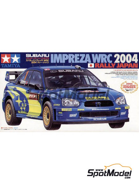 Subaru Impreza WRC - Japan rally 2004 | Model car kit in 1/24 scale manufactured by Tamiya (ref. TAM24276) image