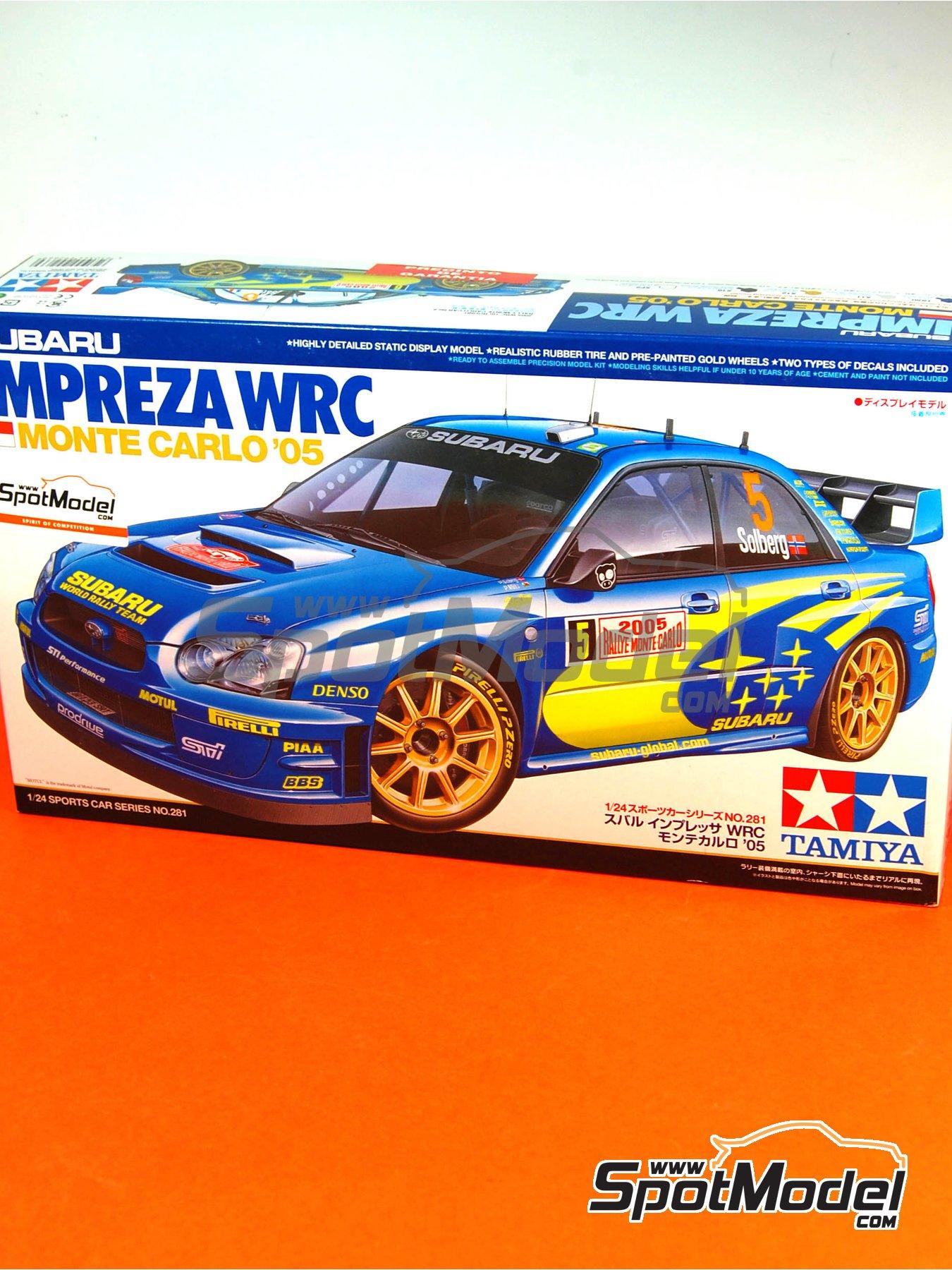 Subaru Impreza WRC - Montecarlo Rally - Rallye Automobile de Monte-Carlo 2005 | Model car kit in 1/24 scale manufactured by Tamiya (ref.TAM24281, also 24281) image