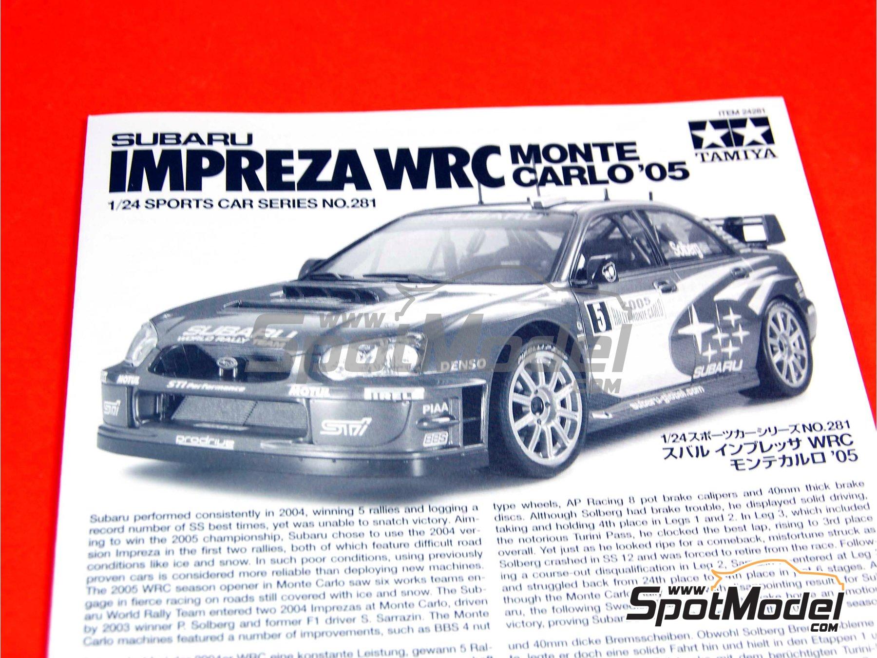 Image 1: Subaru Impreza WRC - Montecarlo Rally - Rallye Automobile de Monte-Carlo 2005 | Model car kit in 1/24 scale manufactured by Tamiya (ref.TAM24281, also 24281)